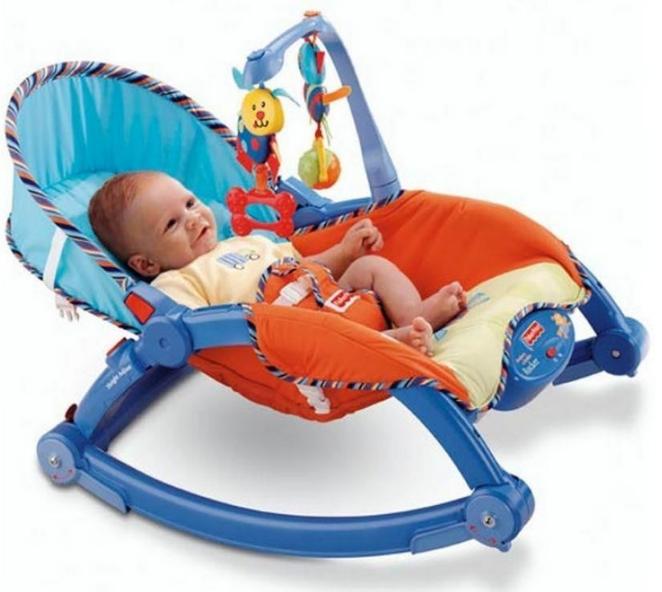 Дитяче музичне крісло-гойдалка 7179