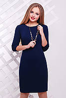 Платье однотонное выше колен темно-синего цвета сукня Модеста д/р