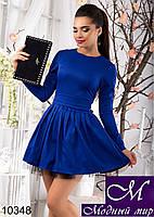 Женское пышное короткое платье электрик (р. S, M, L) арт. 10348