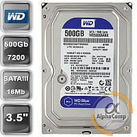 "Жесткий диск 3.5"" 500Gb WD WD5000AAKX (16Mb/7200/SATAIII) БУ"
