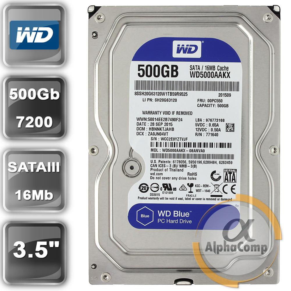 "Жорсткий диск 3.5"" 500Gb WD WD5000AAKX (16Mb/7200/SATAIII)"