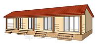 Проект мини гостиницы на 4 номера 84,37 кв.м.