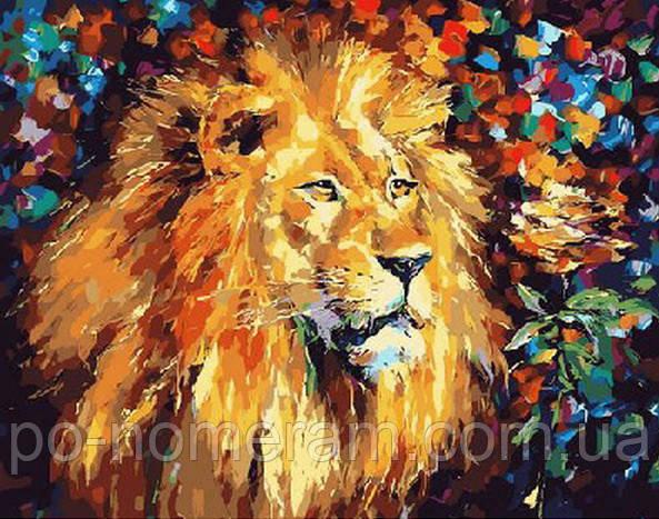Картина-раскраска Mariposa Великолепный лев худ Афремов, Леонид (MR-Q051)