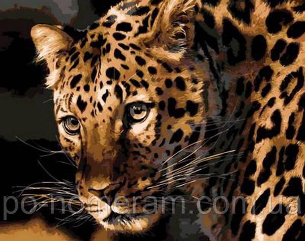 Картина по номерам Mariposa Настороженный леопард (MR-Q694)