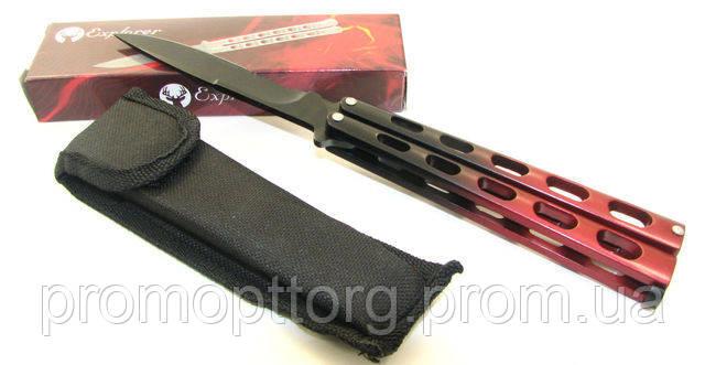 Нож бабочка, балисонг Explorer красно-черный (в красной коробке)