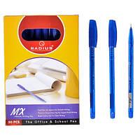 Ручка МХ тон.корпус  упак.50шт.стержень синий