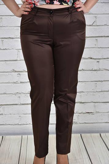 Женские брюки больших размеров 017 коричневые