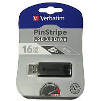 Флешка  16Gb Verbatim PIN STRIPE Black USB 3.0 (Cупер цена!!!)