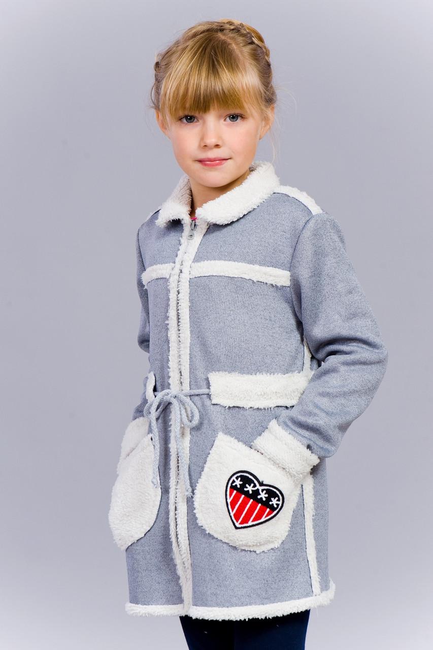 Стильный детский кардиган 703-1 голубой