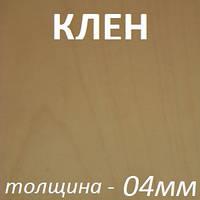 Фанера шпонированная 2500х1250х4мм - Клен (1 сторона), фото 1