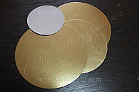Подложка круглая D 90 мм. (золото/серебро)