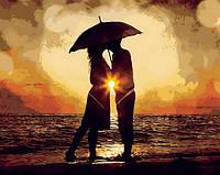 Картина-раскраска Поцелуй на закате