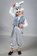 Детский карнавальный костюм Зайчика серый
