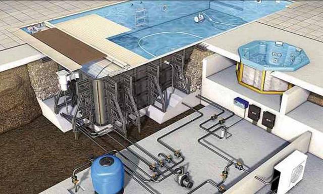 Строительство чаши бетонного бассейна