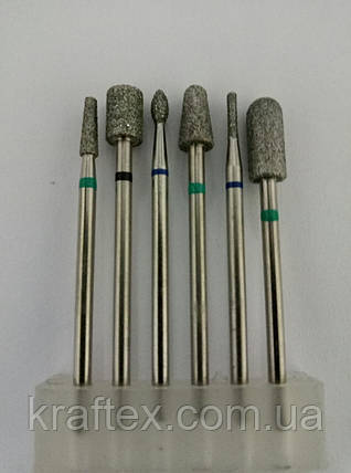 Алмазные насадки для маникюра 2.35 мм, фото 2