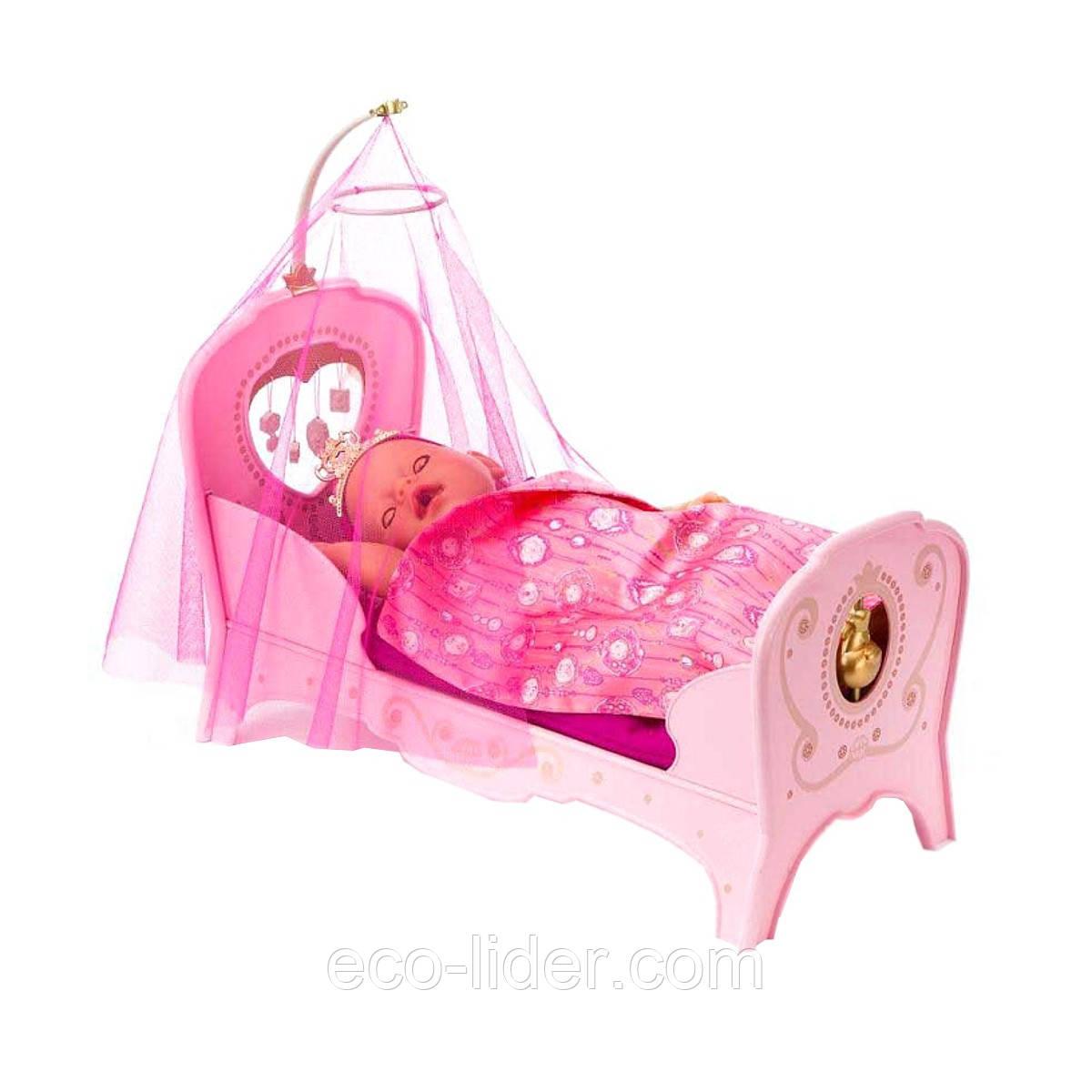 Інтерактивна ліжечко для ляльки BABY BORN - СОЛОДКІ СНИ ПРИНЦЕСИ (світло, звук)