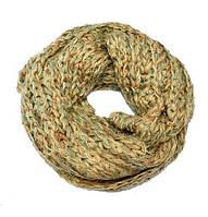 Оригинальный теплый шарф-снуд