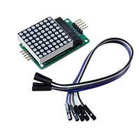 Модуль светодиодной матрицы 8x8 с матричным индикатором 1088AS и драйвером MAX7219 MAX7219CNG, фото 1