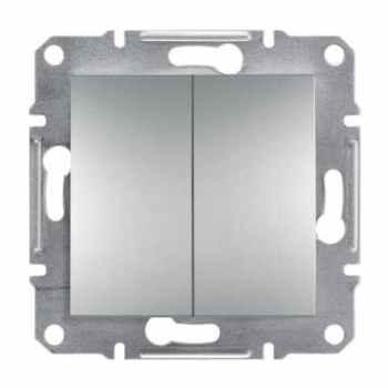 SHNEIDER ELECTRIC ASFORA Выключатель проходной 2-х клавишный Алюминий