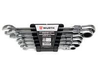Набор ключей, комбинированных с трещоткой и шарниром WURTH