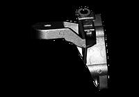 Кронштейн двигуна задній лівій під дв КПП (силумін) Chery Amulet