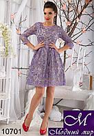 Женское сиреневое нарядное платье (р. S, M, L) арт. 10701