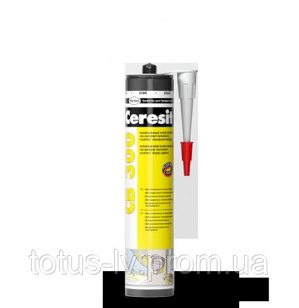 Клей-герметик Ceresit CB 300 на основе полимера Flextec® белый 400 гр