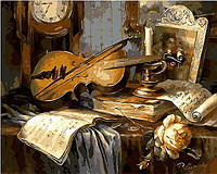 Картина раскраска по цифрам. Дух музыки