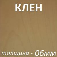 Фанера шпонированная 2500х1250х6мм - Клен (1 сторона)