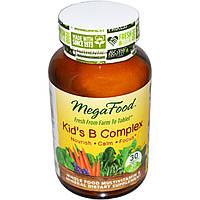 MegaFood, Комплекс витаминов В для детей, 30 таблеток