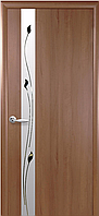 """Двери межкомнатные ПВХ с матовым зеркалом и прозрачным контуром """"ЗЛАТА"""""""