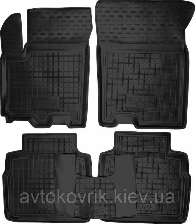 Полиуретановые коврики в салон Suzuki SX4 II 2014- (AVTO-GUMM)