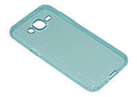 Силиконовый чехол Ultra-thin на Samsung Galaxy J2 SM-J200H Turquoise, фото 1