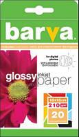 Фотобумага Barva, глянцевая/матовая, двусторонняя, A6 (10x15), 210 г/м2, 20 л (IP-D210-066)
