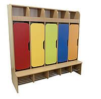 Шкаф детский 5-местный (хромированные трубы)