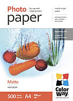 Бумага ColorWay матовая, 108 г/м2, А4, 500 л (PM108500A4)