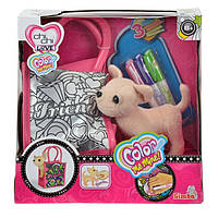 Собачка в сумочке с фломастерами Chi Chi Love Color Me Mine Simba 5895264