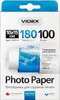 Фотобумага Videx глянцевая, A6 (10x15), 180 г/м, 100 шт (HGA6 180/100)