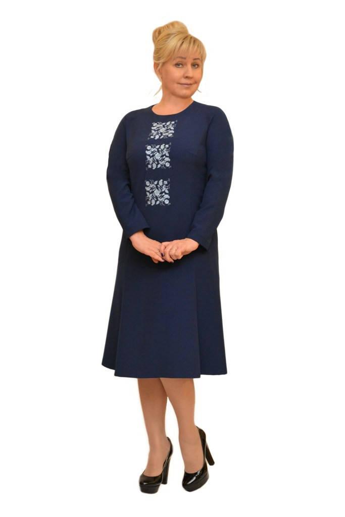 Платье с вышивкой - Модель Л295-1