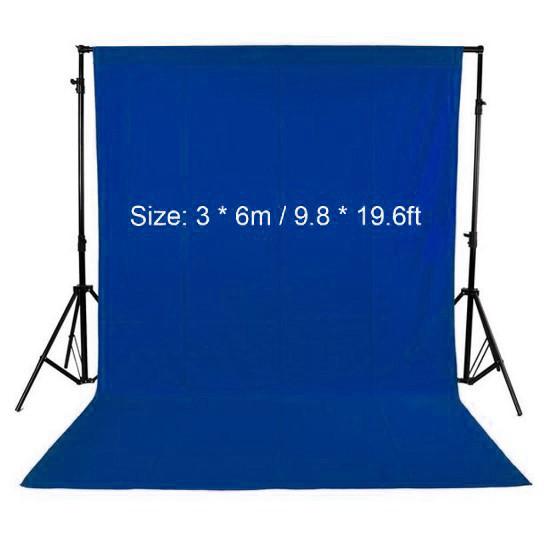 Тканевый однотонный фон 3 x 6 м (синий) (68019)