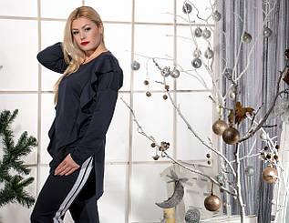 Женский костюм с коттоновыми лампасами (42-60)8155.2