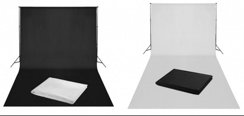 Тканевый однотонный фон 3 x 6 м (белый) (MB120-W)