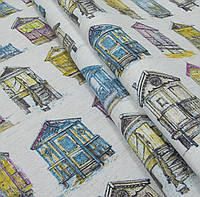 Декоративная ткань Домики пляжные, цвет № 1
