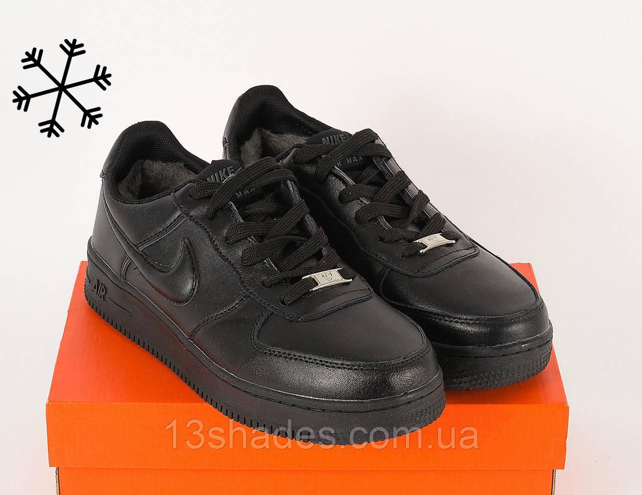 Кроссовки мужские зимние Nike Air Max Winter низкие ( Найк Аир Макс) чёрный  - Интернет 419ab7ef48d