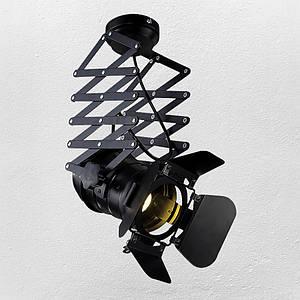 Прожектор (потолочный ) в стиле лофт ( модель 52-15 черный   )