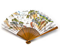 Веер бамбук бумага 29см (30005)