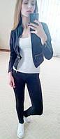 Женский костюм лосины и пиджак