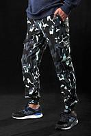Штаны карго мужские, брюки, камуфляж темный