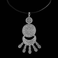 Колье на кожаном шнуре Лина - Этнические украшения