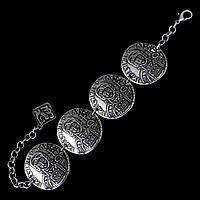"""Металлический браслет с этническими элементами """"Император Византии"""""""